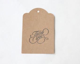 THANK YOU tags, gift tags, thank you tags, THANK you favour bag tags X 10