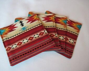 Southwestern Coasters Turquoise Southwest Coasters//Mug Rugs Turquoise Coasters Aztec Coasters Sedona Coasters