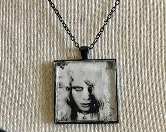 Night of the Living Dead - Black and White Fan Art Square Necklace
