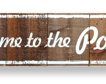 Welcome to the Porch on Cedar Planks 8 x 34