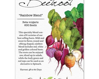 Beetroot Seeds, Rainbow Blend (Beta vulgaris) Non-GMO Seeds by Seed Needs
