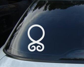Troll Cross Vinyl CAR DECAL Pagan Asatru Norse Viking Sticker