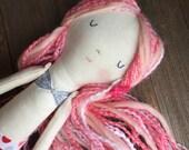 Mermaid doll pink hair