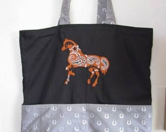 Paisley Horses Tote Bag Shopping Bag Diaper Bag