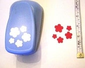5 flower CRAFT PUNCH for cards, craft, scrapbooks flower making woodware