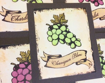 Winery Table Number Wedding Decor Reception Sign Cards Made to Order Vinter Outdoor Grapes
