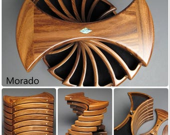 Rotating Jewelry Box with Hidden Compartments;  Efficient Jewelry Storage, 'The Helical Box'
