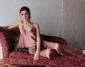 silk pajama set - ALICE silk charmeuse with spandex bridal sleepwear range - made to order