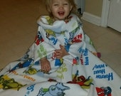 New Year Sale Toddler Cat in the Hat Blanket with Sleeves (Snuggie)