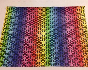 Rainbow Peace Sign Fabric  247860