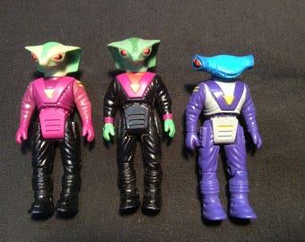 Dinorider set of three Rulon Rider: Mako, Rasp & Sidewinder - 1988