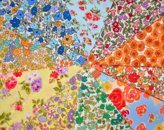 "Quilt 40 Charm Pack 5x5"" Fabric square set Chic Retro Mini English Floral"