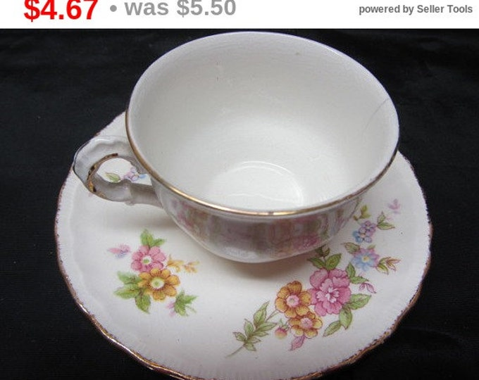 "Vintage Cup and Saucer Used ""Pope Gosser China"", Mid Century Cup and Saucer Serving Set, Pope Gosser China Set, Serving Set China Tea Set"