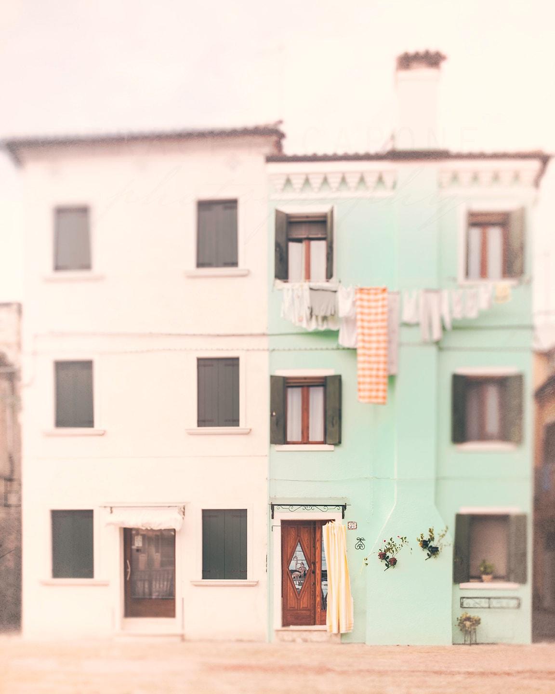 Pastel Wall Art Burano Italy Photography Mint Green