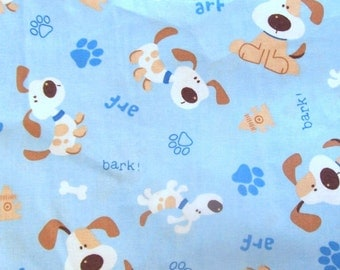 Adorable Dog Bark! 100% Cotton Fabric - 1 Yard,  1/2 Yard or Fat Quarters                                                           02/2017