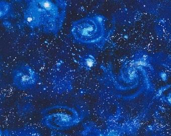 Robert Kaufman - Stargazers - Royal Galaxy Fabric by the yard SRK1460711