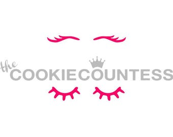Unicorn Eyelashes Cookie Stencil, Unicorn Eyelashes Sugar Cookie Stencil, Unicorn Eyelash Fondant Stencil, Unicorn Stencil, Airbrush Stencil