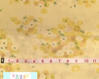 Yellow Vintage Pillowcases with Yellow Floral