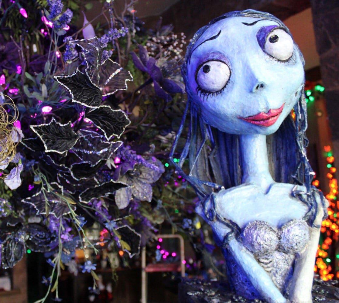 custom halloween event decor corpse bride sculpture paper