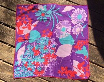 Purple Blooms scarf