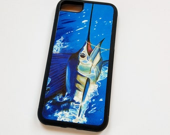 Sailfish iPhone case fits iPhone 6 and 7 and galaxy 6 and 7 offshore fishing