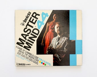 Vintage 1970s Game / Invicta Mastermind 44 1972 Like-New Complete / Game of Cunning and Logic for 4 Persons