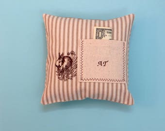 tooth fairy pillow, personalized toothfairy pillow