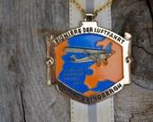 1974 Charles Lindbergh Medal . Flying Medal . Enamel Medal . Wanderfreunde Medal . Unique
