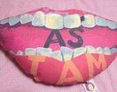 Love Me As I Am- embroidered cushion no. VI
