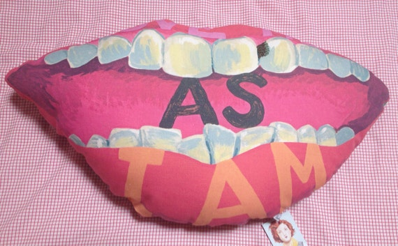 LAST ONE -- Love Me As I Am- embroidered cushion no. VI