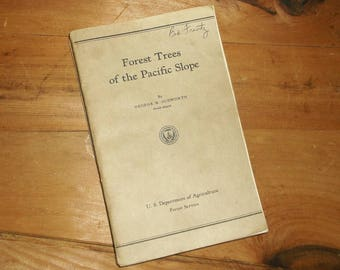 Vintage book Forest Trees Of The Pacific Slope by George B. Sudworth
