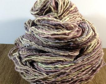 Handspun Yarn, Hand Dyed Yarn, BFL Yarn -Waiting - Single Ply Sport Weight Yarn