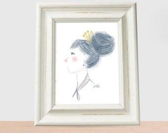 minimal girl Princess