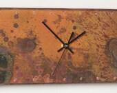 """6"""" x 18"""" inch Copper Clock"""