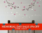 Memorial Day Sale - Butterfly Wall Decal, Butterfly Branches Wall Decal, Crib Wall Decals, Baby Nursery Decals, Nursery Wall Stickers,