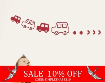 Sale - Kids Vinyl Wall Sticker Decal Art - Cars -  for Nursery Baby Kid Boy Room
