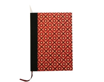 Large Weekly Planner 2018, DIN A5 Red Black Pinny Pattern, 50s Design Agenda