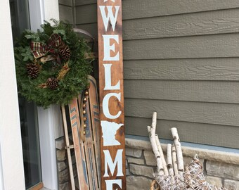 Welcome Front Door Sign with Custom State