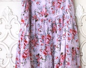 M Boho Tunic, Shabby cottage chic tunic top, French market chic floral tank cami tunic Country girl bohemian spring top, True rebel clothing