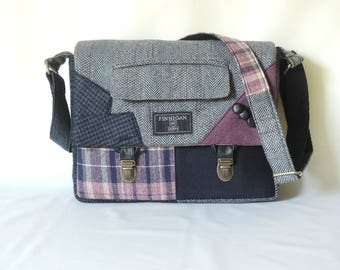 Messenger Bag mens iPad Messsenger bag, iPad Sleeve  iPad Case Womens messenger Bag Eco Friendly Recycled Suit Coat Crossbody bag