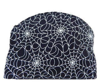 """USA Handmade Cosmetic Bag with  """" SPIDER WEB"""" Pattern Clutch Purse, Pouch, Make Up Bag,  New, Rare"""