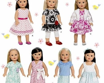 """18 inch Doll Dress Pattern, 18"""" Doll Clothes Pattern, 18in Doll Dress Pattern, Simplicity 1484 sewing pattern"""