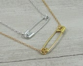 Solidarity Safety Pin Necklace - Safety Pin Movement - You are Safe - Safety Pin Campaign Jewelry