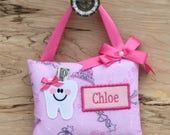 Personalized Tooth Pillow--PRINCESS FAIRY WAND Tooth Fairy Pillow-----Ships next day