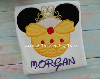 Disney Belle Princess Shirt - Minnie Belle Shirt - Minnie Mouse and Belle - Beauty and the Beast - Disney Vacation Belle Shirt