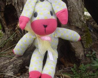 Easter rabbit made from socks.