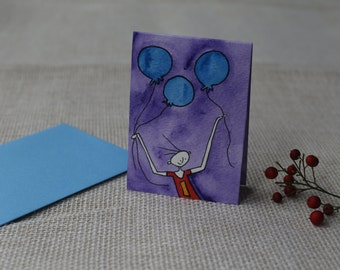 Hand Painted Birthday Card
