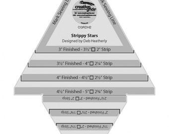 Strippy Stars Tool - Creative Grids Quilting Tool - CGRDH2 - Non-Slip Ruler