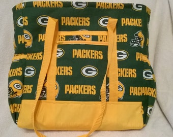 Green Bay Packers Diaper Bag, Tote, Carry On, Book Bag