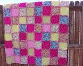 Raspberry Fields Forever Quilt - Rag Lap Quilt